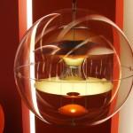 Indret med designerlamper fra Verner Panton