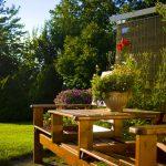 Indret en hyggelig oase haven med havemøbler